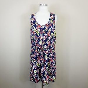 Forever 21 Floral Sleeveless Dress Plus Size